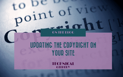 Updating the copyright on your Website