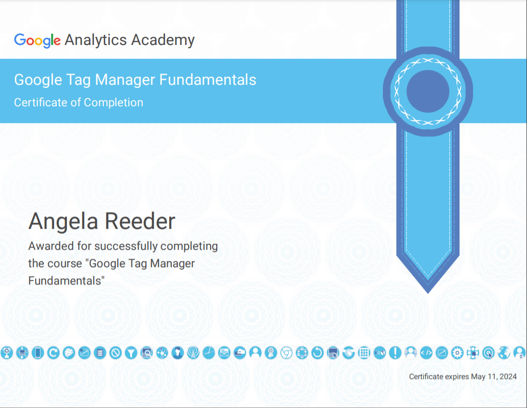 Google Tag Manager Fundamentals Certification